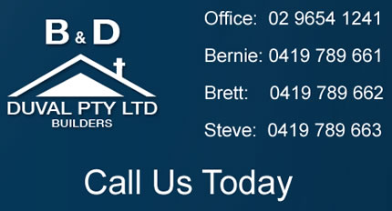 B & D Duval Pty ltd - Sydney Builders